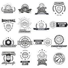 Streetball logo set