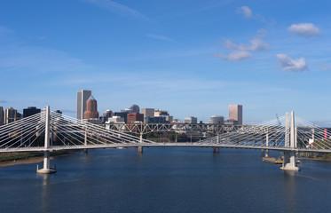 Tilikum Crossing Portland Oregon New Bridge Construction Willame
