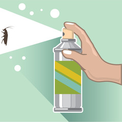 Bug Spray Vector