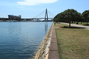 The Anzac Bridge, Sydney, Australia