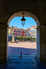 Burgos Plaza Mayor square in Castilla Spain