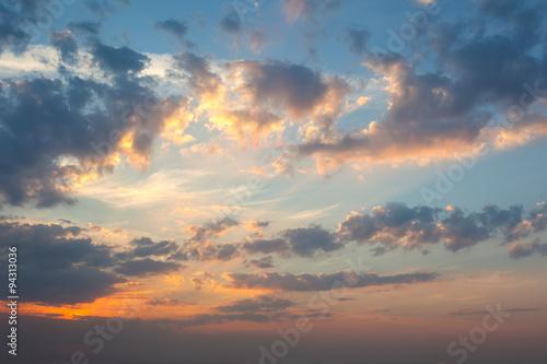 Amazing panoramic background of real sunrise sky stock photo and amazing panoramic background of real sunrise sky voltagebd Choice Image