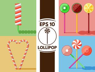 Flat lollipops collection eps10