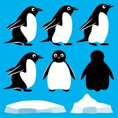 Vector set. Penguins.