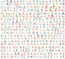 Mega collection of abstract company logo design concepts