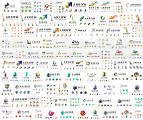 Company logo mega collection. Various universal icon set for any