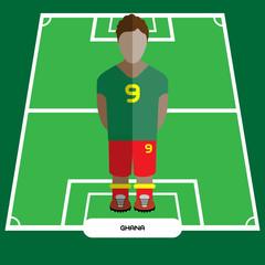 Computer game Ghana Soccer club player
