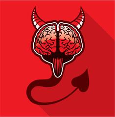Evil Brain Vector Art