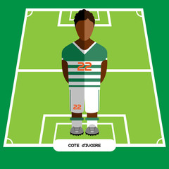 Computer game Cote d'Ivoire Football club player