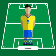 Computer game Ukraine Football club player
