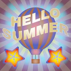 Hello Summer Vector Banner