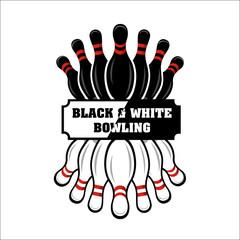 Bowling team or club emblem