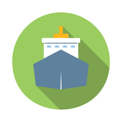 Ship colored flat icon