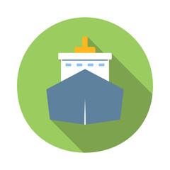 Ship colored flat icon