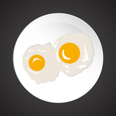 Fried eggs illustration