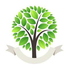 Stylized Green Tree Logo