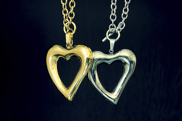 Gold and silver heart