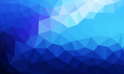 Low Poly Background Blue 3