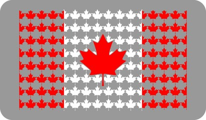 canada flag from maple leafs
