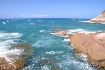Malownicza zatoka w La Caleta na Teneryfie