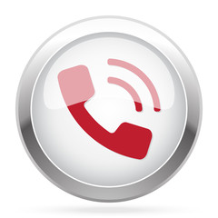 Red Phone icon on chrome web button