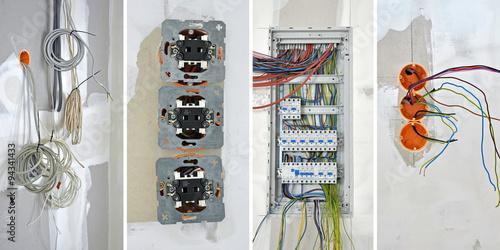 elektroinstallation elektriker stockfotos und lizenzfreie bilder auf bild 94341433. Black Bedroom Furniture Sets. Home Design Ideas