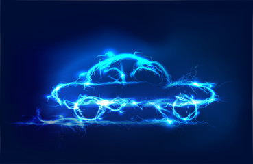Car, Abstract background made of Electric lighting effect.