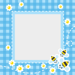 Frame or border with funny bees