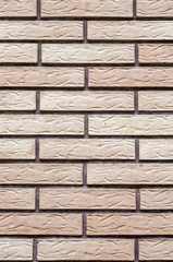 Decorative relief cladding slabs imitating bricks  on wall