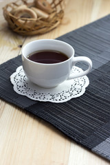 tea on a napkin