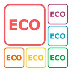 Eco icon sign set