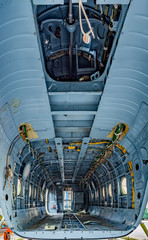 Wall Mural - Cargo bay of the helicopter without details