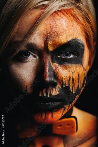 Pumpkin king makeup