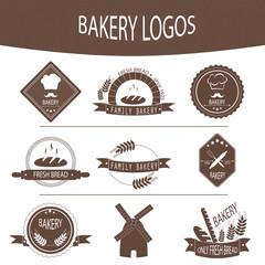 Set of bakery logos, labels, badges