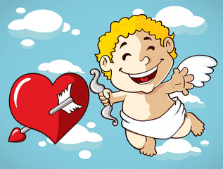 cartoon smiling cupid