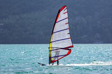 Windsurfer on the lake