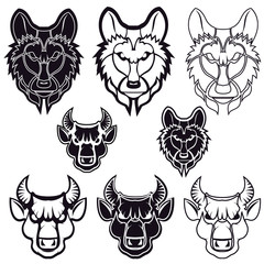 wolf and bull