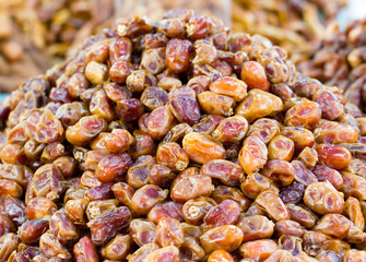 Heap of date palm in the market.