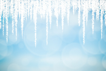 Abstract Relax Blue Snowflake Background