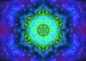 Illustration: Digital Art: Fractal Graphics: The Star Burst Series 2. Wallpaper / Scene / Background Design. Fantastic Style.