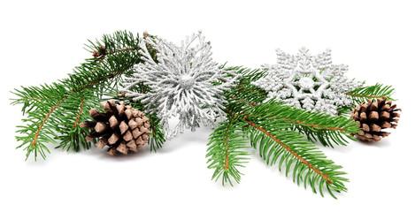 Christmas decoration fir cones