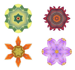 Illustration: Digital Art: Fractal Graphics: The Lord of Flowers Series 6. Element / Game Asset Design. Fantastic Style.