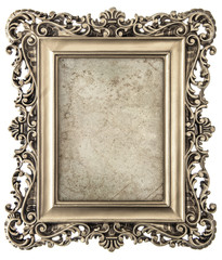 Old gold picture frame with canvas for picture, photo, image
