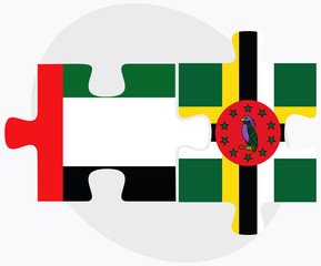 United Arab Emirates and Dominica Flags