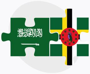 Saudi Arabia and Dominica Flags