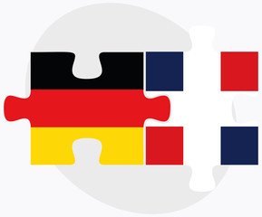 Germany and Dominican Republic Flags
