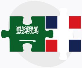 Saudi Arabia and Dominican Republic Flags
