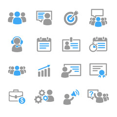 Business training education icons vector