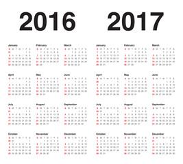 Calendar 2016 2017
