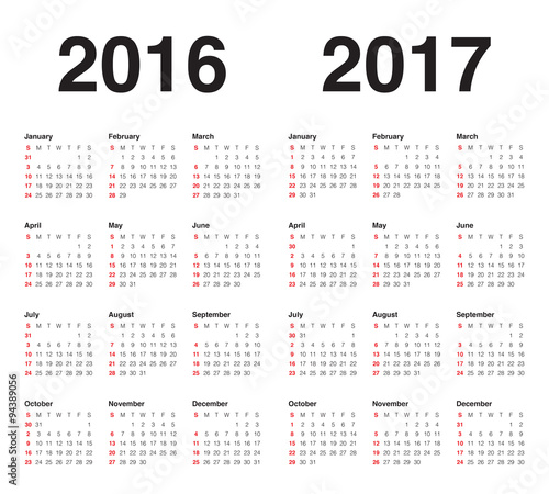 calendar 2016 2017 stock image and royalty free vector files on